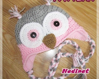 Owl crochet hat pattern,  INSTANT DOWNLOAD Pattern, gratis - hat lining FREE Tutorial