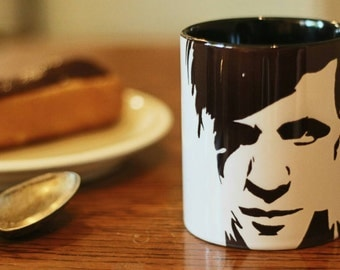 Matt Smith, Doctor Who, 11th Doctor, Hand Painted, Hand Printed Cup