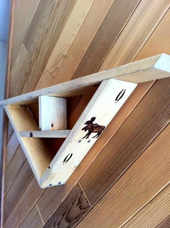 Triangle shelves rustic : Geometric shelf rustic