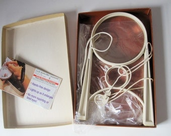 An 'Ezy-Mag', Hands Free Magnifier in Original Box From Donegan Optical Co., Lenexa, Kansas - Multiple Uses -  Large Magnifying Glass