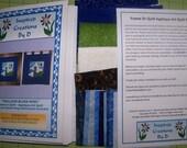 "Trillium Blues ""Mini"" Art Quilt Pattern Kit"