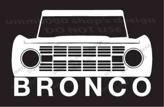 Vintage Ford Decals : Items similar to early classic ford bronco vinyl sticker