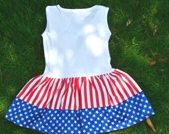 SALE - 4th of July Dress - Summer Dress - Patriotic Dress