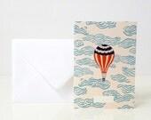 """1 """"Air balloon"""" card - 1 carte """"Air balloon"""""""