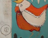 small original bird painting