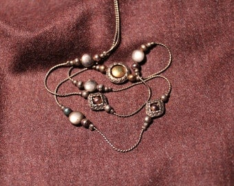 Vintage Necklace with Ornate Beads