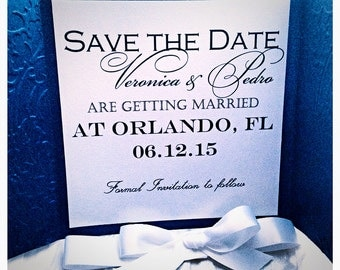 Navy Save the Date Card, Navy Blue Save the Date