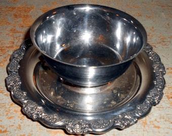 Vintage Bowl, Gravy Bowl, Gravy Dish, Dip Bowl, Floral, Ornate