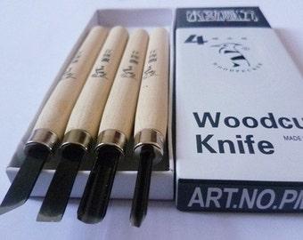 Metal Head Rubber Graver Set - Carving Knife - Carver - 4 Pcs included