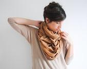 Women Fashion - Caramel gold speckled scarf - Infinity Scarf Galaxy -  Nursing Infinity Scarf Women Scarves