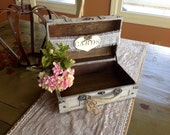 Rustic Wedding Card Box With Burlap Banner