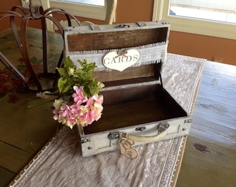 Rustic Wedding Card Box With Burlap Banner