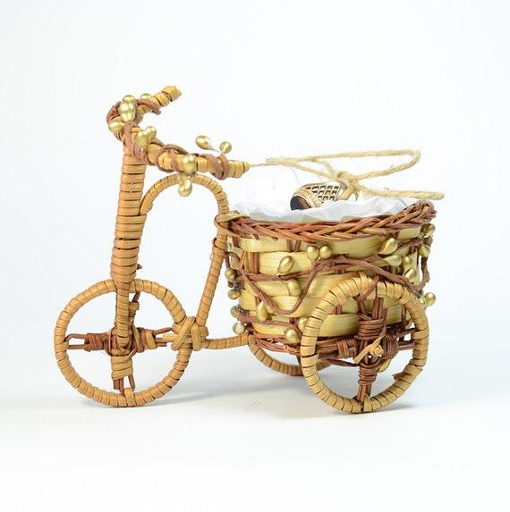 Bicycle Ring Bearer Pillow Alternative Wedding Ring