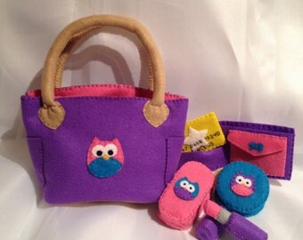 Felt Play Purse--owl design