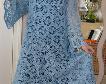 Blue Sky Summer Dance dress custom made cotton dress sizes 0 to 20