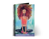 Serenity Yoga Girl Art Journal Spiral Bound