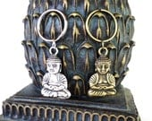 Buddha Keychain, Yoga, Namaste, Meditation, Spiritual, Bag Charm, Bronze, Silver, Unique Gift For Her or Him Under 10