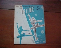1948 Genuine Vintage Ice Time Rockefeller Center NYC Souvenir Program Sonja Henie And Arthur Wirtz 18 Pages Good Condition Scarce