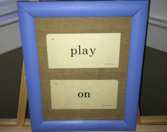 Framed Vintage Flash Cards - PLAY ON