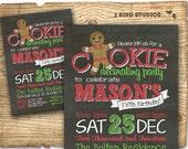 Milk and cookie invitation - Christmas cookies and milk birthday invitation - Girl/boy birthday party invitation for milk and cookie party