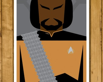 "Star Trek: The Next Generation - Lieutenant Worf (11 x 17"")"