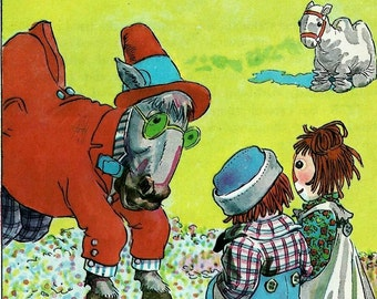 Raggedy Ann and Andy Book Page - Nursery Decor