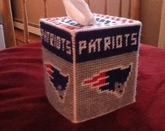 New England Patriots Plastic canvas Tissue Box cover