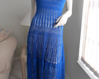 MADE TO ORDER / Royal Chain Link Maxi Dress