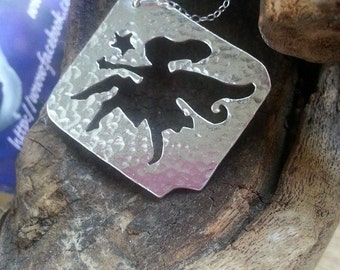 Fairy Necklace, Fairy Pendant, Fairy Jewelry, Pixie Jewelry, Sterling Silver Fairy