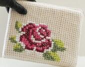"DIY Tunisian Crochet PATTERN - Cotton Rose Bloom Tablet Case (8.5"" x 10"") (tunisian001)"
