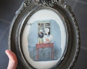 Roméo & Juliette : original framed watercolor