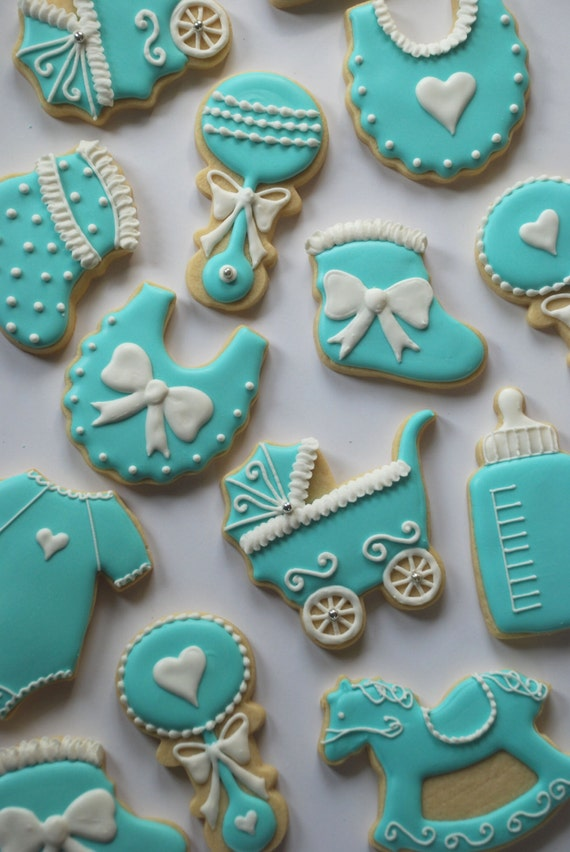 Cookies Decor for Baby Shower Party Decor -Top Cheap Easy ...  |Best Baby Shower Cookies