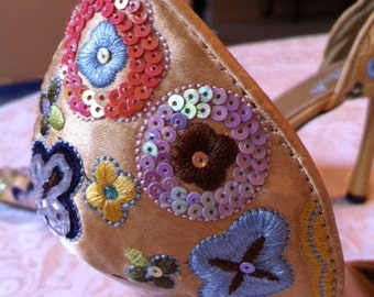 Beaded And Embroidered Shoes