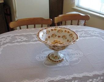 Flowered Pedestal Dish