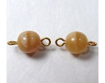 DIY Jewelry - Creamy Swirl Charm Connectors - Set of 2