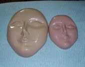 2 htf Unisex PEACE MASK Face Art Deco Wall Decor Plastic Repurpose REUSE Crafts Recycle Items