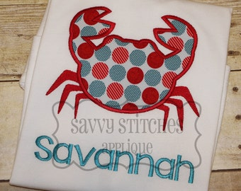 Crab 2 Machine Embroidery Applique Design