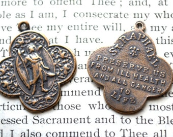 St. Raphael the Archangel - Bronze or Sterling Silver  - St Raphael Medal (M92-1011)