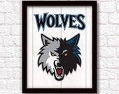 MINNESOTA TIMBERWOLVES - rustic handmade sign - Minnesota Timberwolves fan wall sign - Fathers Day gift for Dad