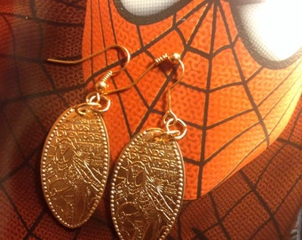Spider-Man Universal Studios Pressed Penny Earrings! So Shiny!