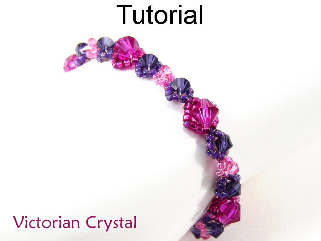 Right Angle Crystal : Beading tutorial pattern right angle weave raw simple bead