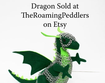 Chainmail armor for the Eco Felt Dragons made by The Roaming Peddlers