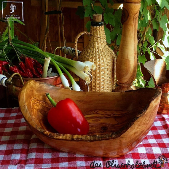 Big Fruitbowl selection Olive wood bowl  from 9.8 inch up natural / rustic look