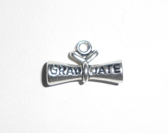 Silver  Graduate Diploma Charm