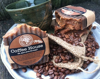 COFFEE HOUSE -Exfoliating Soap-Richly Scented-Cafe-Mocha-Coffee-
