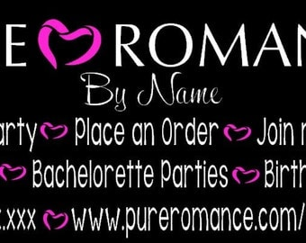 PURE ROMANCE DECAL 2 colors.