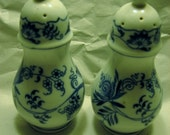Blue Danube Blue Onion Lipper and Mann Salt and Pepper Shakers