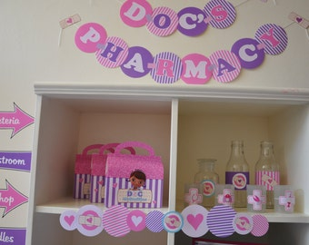 Doc McStuffins Doctor & Nurses party NON-PERSONALIZED PDF printable deluxe party decorations package