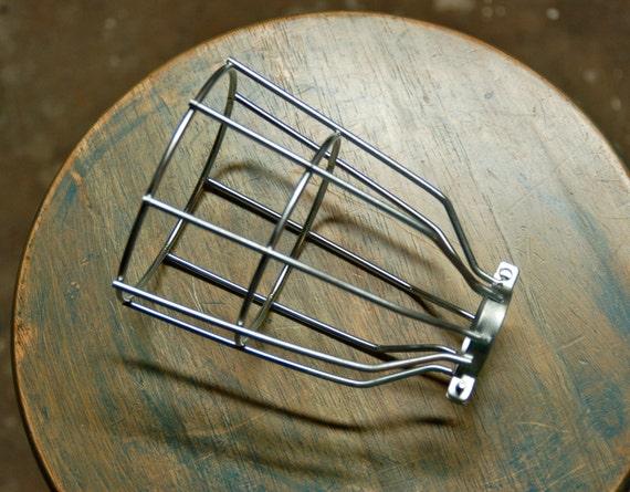 steel bulb guard clamp on metal lamp cage for vintage trouble. Black Bedroom Furniture Sets. Home Design Ideas
