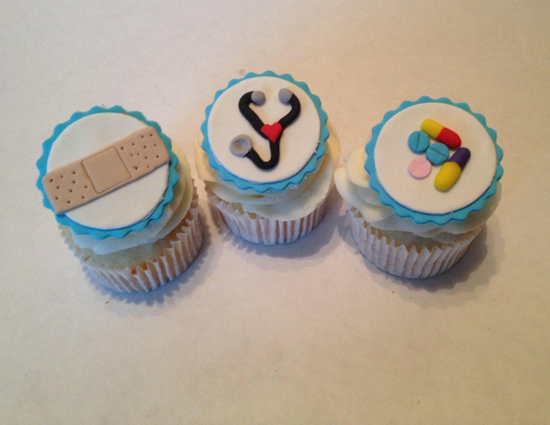 Medical Fondant Cupcake Toppers